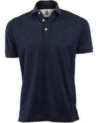 Eleventy Jersey Polo - Blue