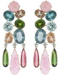 Irene Neuwirth One Of A Kind Chandelier Earrings - Multicolour