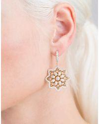 Buddha Mama Diamond Mandala Earrings - Metallic