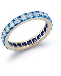 Katherine Jetter Diamond And Blue E-coating Band Ring