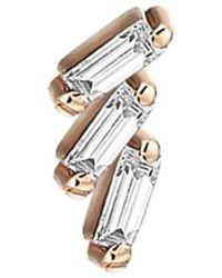 Kismet by Milka Step Baguette Diamond Stud Earring - Multicolour