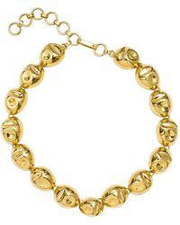 Monica Sordo Gold Puerto Single Necklace - Metallic