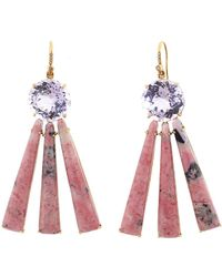 01c7747e4 Irene Neuwirth Carved Pink Opal Strawberry Earrings in Pink - Lyst