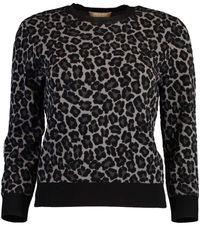 Michael Kors Leopard Print Pullover - Black