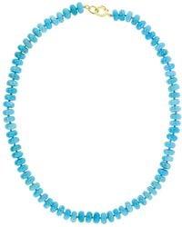 Irene Neuwirth Kingman Turquoise Bead Necklace - Blue