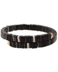 Federica Rettore Pop Horn Diamond And Black Zebu Horn Bracelet