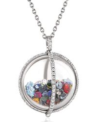 Moritz Glik Confetti Globe Shaker Pendant Necklace - Metallic