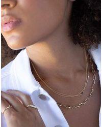 Lizzie Mandler Floating Black Diamond Baguette Necklace - Multicolour
