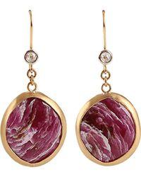 Boaz Kashi Round Cut Sapphire Extreme Earrings - Multicolour