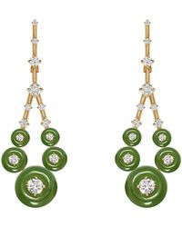 Fernando Jorge Gravity Small Jade Earrings - Metallic
