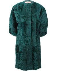 Marni Xiangao Lamb Fur Coat - Green