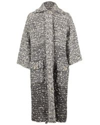 Chanel Woven Cropped Coat - Grey