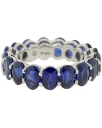 Bayco Oval Sapphire Eternity Ring - Multicolour