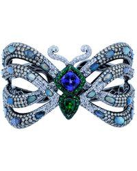 Wendy Yue - Tanzanite And Opal Butterfly Cuff Bracelet - Lyst