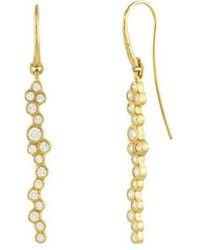 Gurhan Linear Pointelle Earrings - Metallic