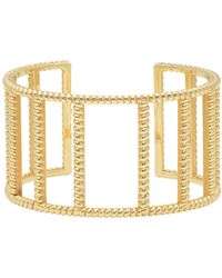 Nancy Newberg - 14-karat Gold Twist Frame Cuff - Lyst