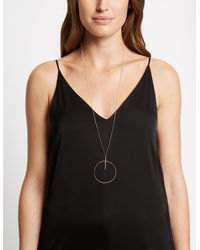 Marks & Spencer - Circle Bar Necklace Gold - Lyst