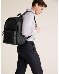 Marks & Spencer Leather Pebble Grain Backpack - Black