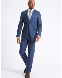 Marks & Spencer - Big & Tall Linen Miracle Tailored Fit Jacket - Lyst