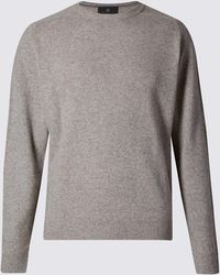 Marks & Spencer Pure Lambswool Jumper - Grey