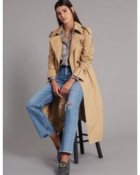Marks & Spencer - Trench Coat With Silk - Lyst