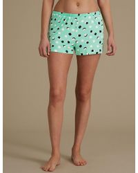 Marks & Spencer - Spotted Pyjama Shorts - Lyst