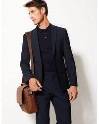Marks & Spencer Leather Formal Briefcase - Brown