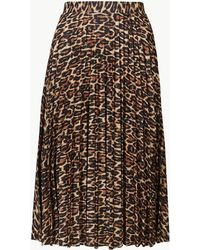 64a4a0afb0 Marks & Spencer Leather A-line Midi Skirt in Black - Lyst