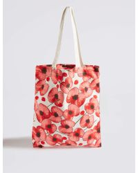 ce1c33cb78b7a Marks   Spencer - The Poppy Collection® Foldable Bag - Lyst