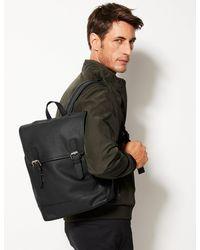 Marks & Spencer Leather Buckle Backpack - Black