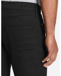 Marks & Spencer Big & Tall Straight Fit Stretch Jeans - Black