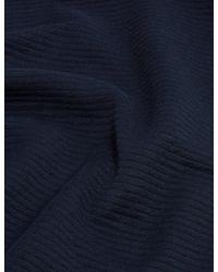 Marks & Spencer Autograph Cotton Textured Crewneck Sweatshirt - Blue