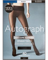 7d05b644cc Marks   Spencer - 40 Denier Velvet Touch Soft Luxe Seamfree Opaque Tights -  Lyst