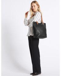 Marks & Spencer - Leather Shopper Bag - Lyst