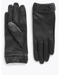 Marks & Spencer - Touchscreen Leather Cuffed Gloves - Lyst