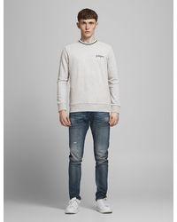 Marks & Spencer Jack & Jones Pure Cotton Crew Neck Sweatshirt - Grey