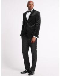Marks & Spencer - Single Breasted Velvet Jacket - Lyst