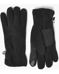 Marks & Spencer Fleece Gloves With Thermowarmthtm - Black
