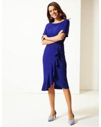 Marks & Spencer - Bodycon Midi Dress - Lyst