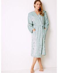 Marks & Spencer - Fleece Star Print Dressing Gown - Lyst