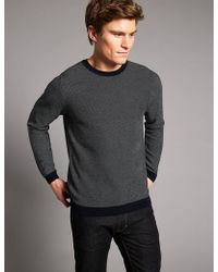 Marks & Spencer - Pure Cotton Textured Slim Fit Jumper - Lyst