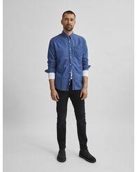 Marks & Spencer Selected Homme Straight Fit 5 Pocket Jeans - Black