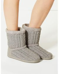 773a987ef4c UGG Tularosa Route Cable Knit Boots in Black - Lyst