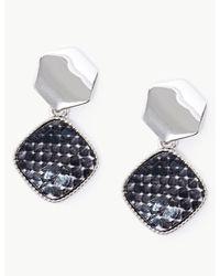 Marks & Spencer Mini Diamond Drop Earrings - Gray
