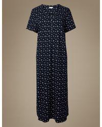 Marks & Spencer - Ditsy Floral Print Short Nightdress - Lyst