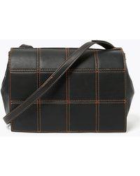 Marks & Spencer M&s Collection Woven Messenger Bag - Black