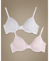 Marks & Spencer | 2 Pack Moulded Underwired Lace Wing First Bras | Lyst