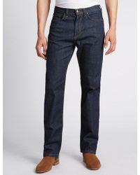 Marks & Spencer - Regular Fit Stretch Jeans - Lyst