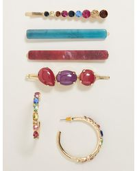 Marks & Spencer Mixed Stone Earrings & Hair Clip Set - Multicolor