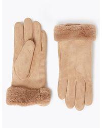 Marks & Spencer Faux Sheepskin Gloves - Natural